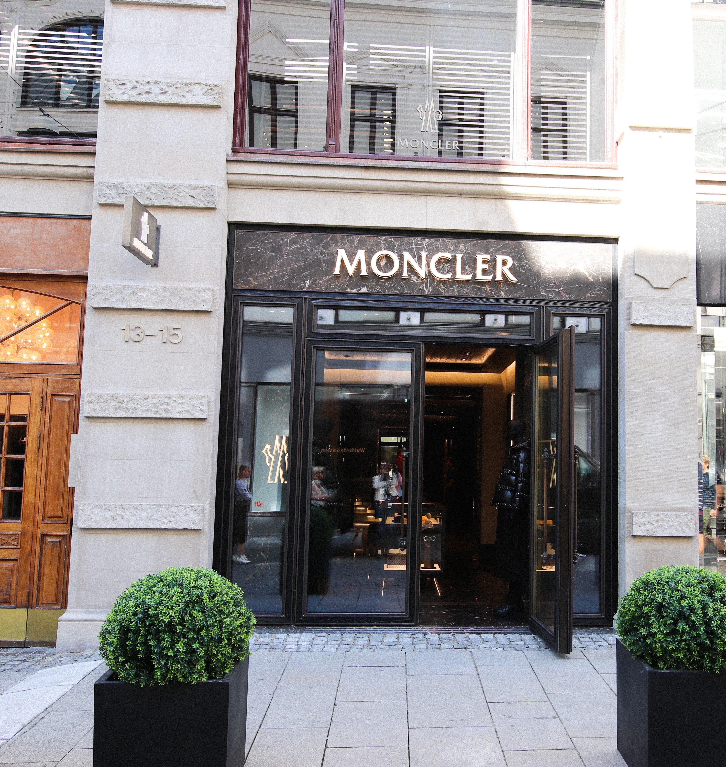 Moncler with their first flagship store in Oslo