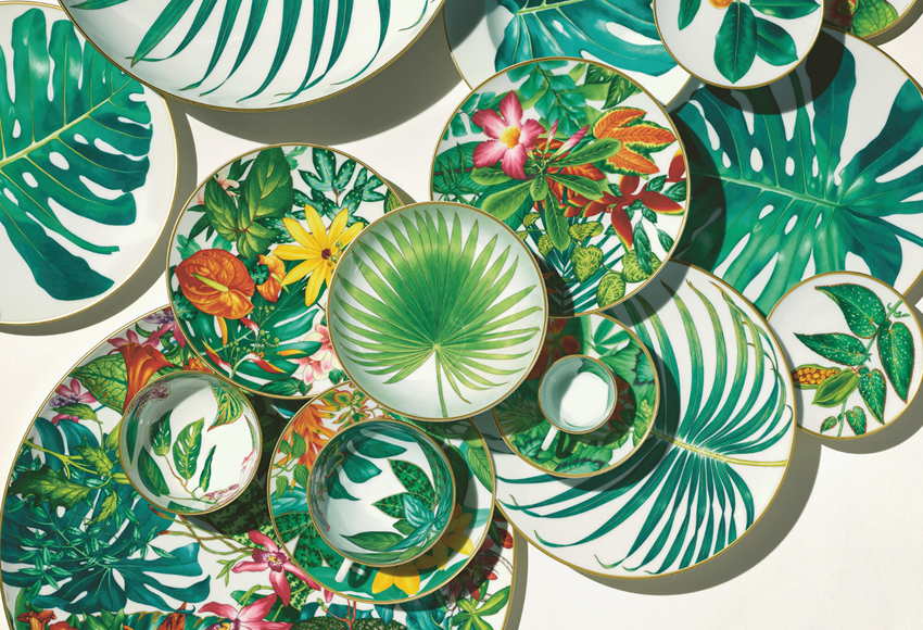 Hermès new Passifolia Tableware collection